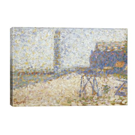 """L'hospice Et Le Phare De Honfleur 1886 // Georges Seurat (40""""W x 26""""H x 1.5""""D)"""