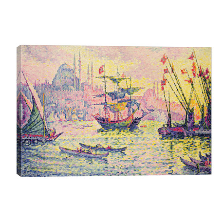 """View of Constantinople, 1907 // Paul Signac (40""""W x 26""""H x 1.5""""D)"""