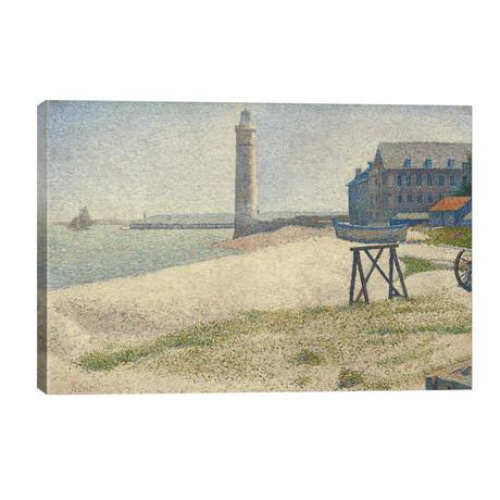 "The Lighthouse at Honfleur // Georges Seurat (40""W x 26""H x 1.5""D)"