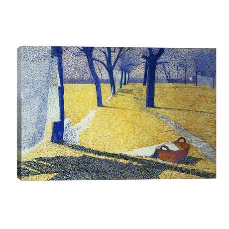 "Washing in the Sun, 1905 // Giuseppe Pellizza da Volpedo (40""W x 26""H x 1.5""D)"