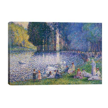 The Lake in the Bois de Boulogne, c.1899 // Henri-Edmond Cross