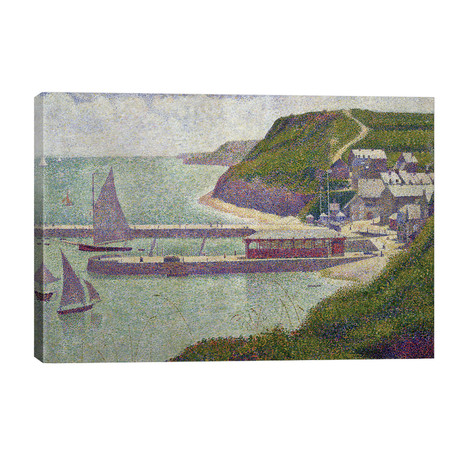 Harbour at Port-en-Bessin at High Tide, 1888 // Georges Seurat