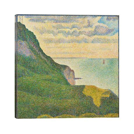 "Seascape at Port-en-Bessin (Normandy) // Georges Seurat (26""W x 26""H x 1.5""D)"