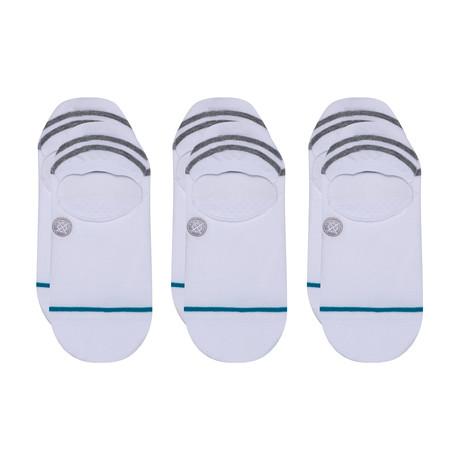 Gamut Socks // White // 3-Pack (M)