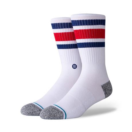 Boyd St Socks // Red + Blue // 6-Pack (M)