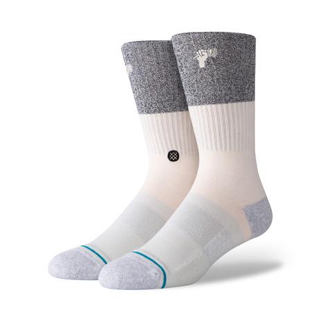 Neapolitan St Butter Blend Socks // Gray + Cream (M)