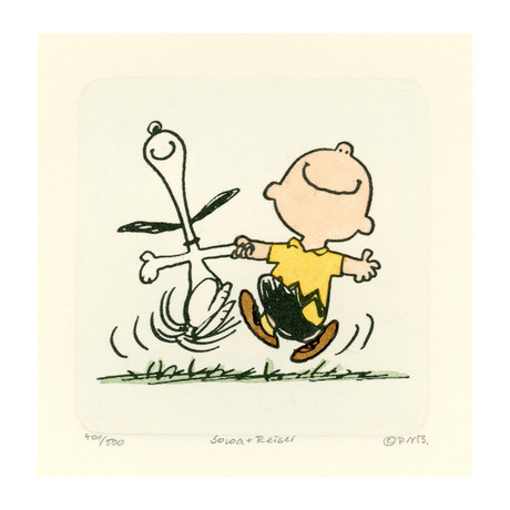 Charlie Brown + Snoopy // Happy (Unframed)