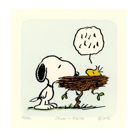 Snoopy + Woodstock // Nest (Unframed)
