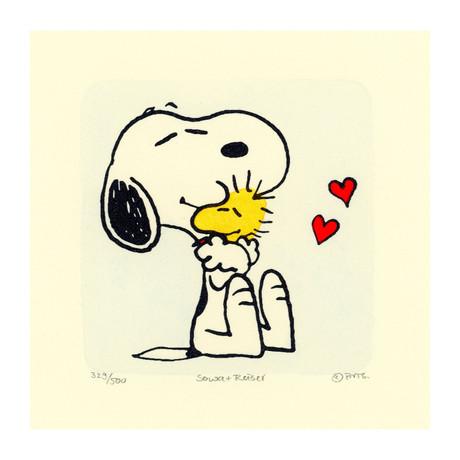 Snoopy + Woodstock // Heart (Unframed)