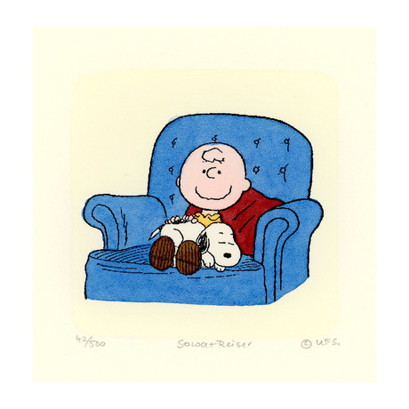 Charlie Brown + Snoopy // Couch (Unframed)