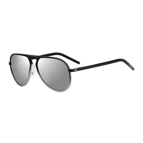 Dior // Men's AL13.2 Aviator Sunglasses // Palladium Gray + Silver Mirror