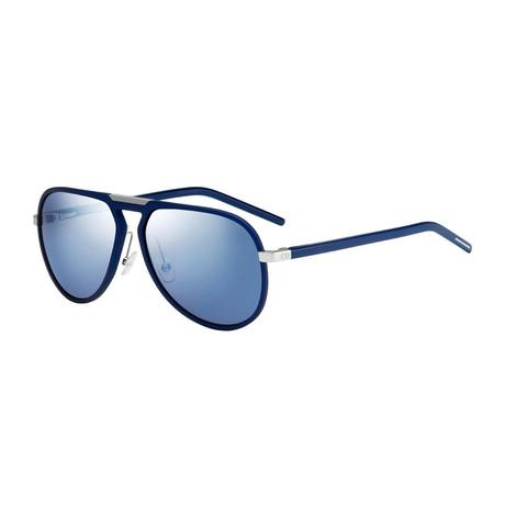Dior // Men's AL13.2 Aviator Sunglasses // Blue + Blue Mirror