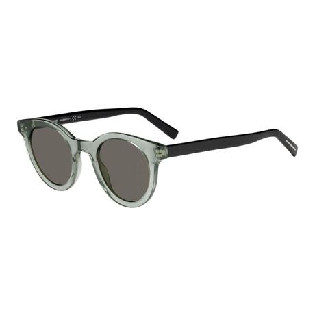 Men's Black Tie Classic Round Sunglasses // Black + Brown