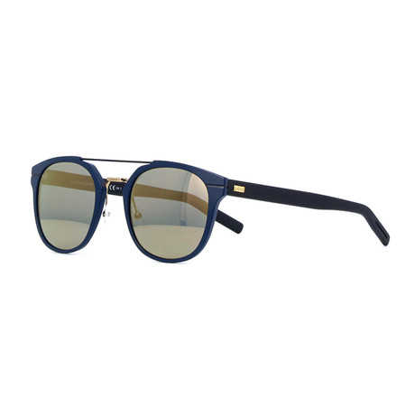 Men's AL13.5 Rectangle Aviator Sunglasses // Matte Black + Bronze Mirror