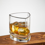 Triangle Whiskey Glasses // Set of 4