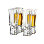 Carre Collection // Set of 2 Whiskey + 2 Martini + 4 Shot Glasses