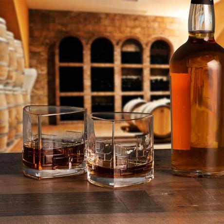 Revere Triangle Whiskey Glasses // 11 oz // Set of 4