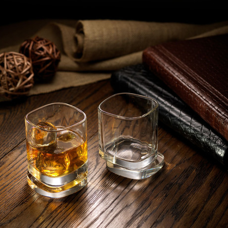 Square Whiskey Glasses // Set of 4