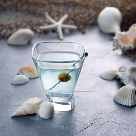 Square Martini Glasses // Set of 4