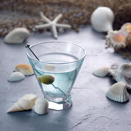 Octagon Martini Glasses // Set of 4