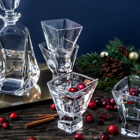 Carre Martini Glasses // 8 oz // Set of 4