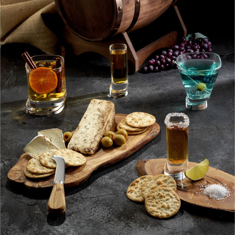 Square Collection // Set of 2 Whiskey + 2 Martini + 4 Shot Glasses