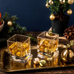 Carre Whiskey Glasses // 10 oz // Set of 4