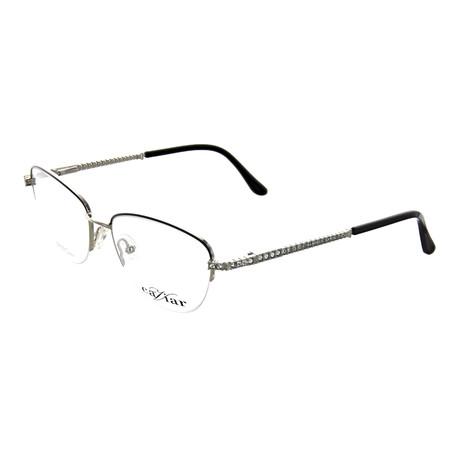 Caviar // Women's Square Optical Frames // Black + Silver
