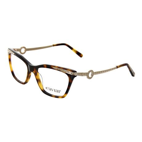 Caviar // Women's Square Optical Frames // Tortoise + Gold