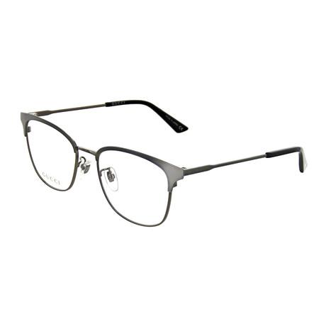 Gucci // Unisex Square Optical Frames // Ruthenium