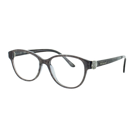 Chopard // Women's Round Optical Frames // Gray Lace