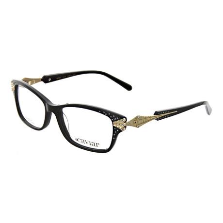 Caviar // Women's Rectangle Optical Frames V2 // Black + Gold