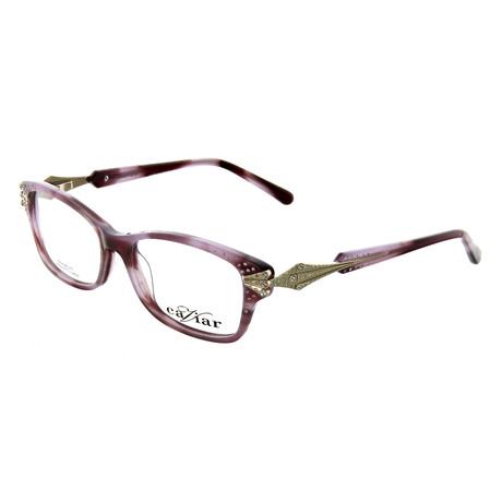 Caviar // Women's Rectangle Optical Frames // Purple + Gold
