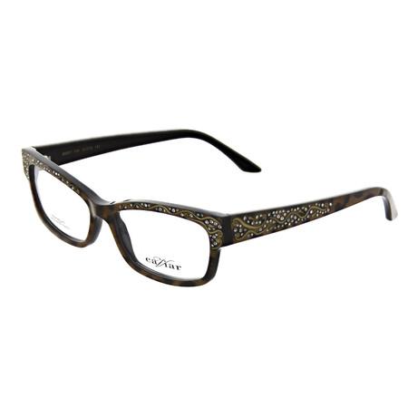 Caviar // Women's Rectangle Optical Frames // Leopard