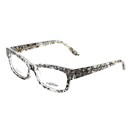Caviar // Women's Rectangle Optical Frames // Black + Clear