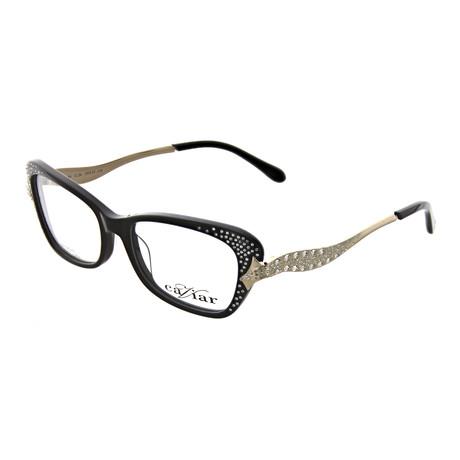 Caviar // Women's Rectangle Optical Frames V3 // Black + Gold
