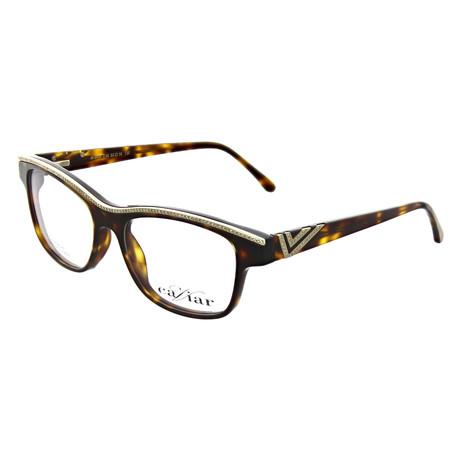Caviar // Women's Square Optical Frames // Brown