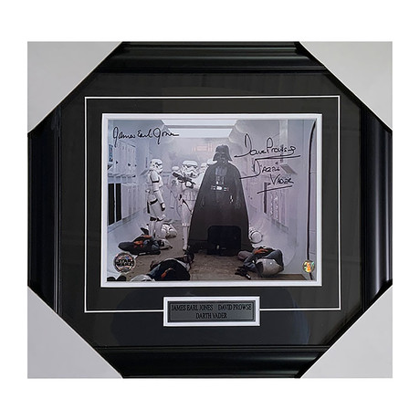 James Earl Jones + David Prowse // Star Wars // Framed Autographed Photo