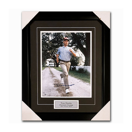 Tom Hanks // Forrest Gump // Framed Autographed Photo