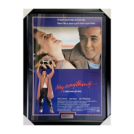 John Cusack // Say Anything // Framed Autographed Movie Poster