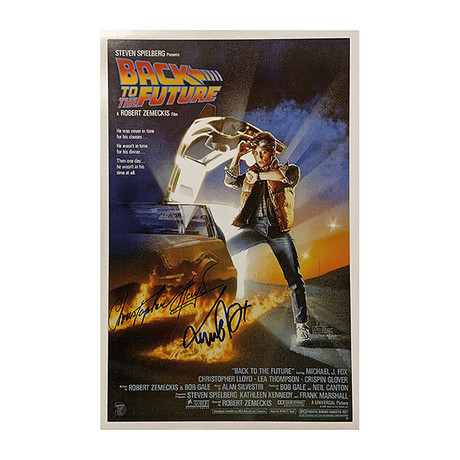 Michael J. Fox + Christopher Lloyd // Back to the Future // Framed Autographed Movie Poster