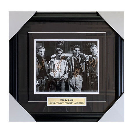Happy Days // Cast Signed // Framed Autographed Photo