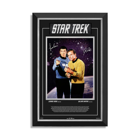 Star Trek // Limited Edition Framed Photo // Facsimile Signatures