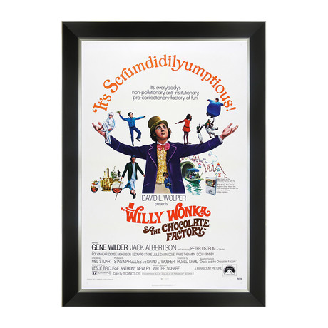 Willy Wonka & The Chocolate Factory // Framed Movie Poster Print