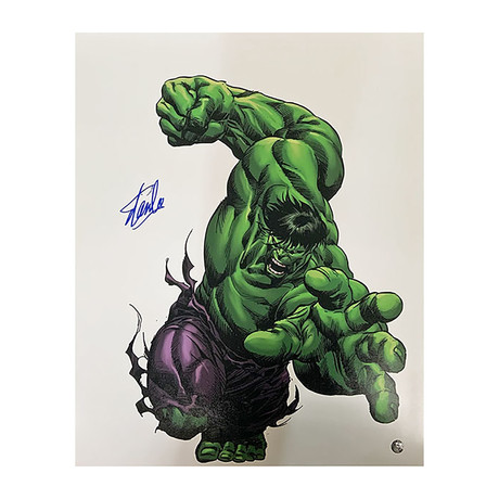 Stan Lee // The Hulk // Framed Autographed Photo