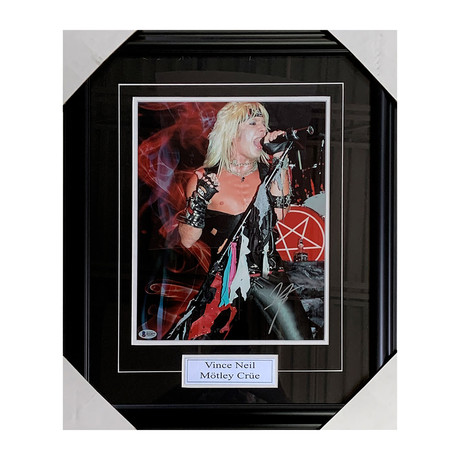 Vince Neil // Framed Autographed Photo