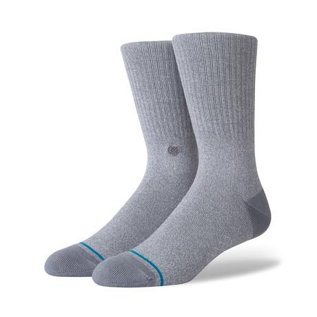 Icon Crew Socks // Gray // 6-Pack (M)