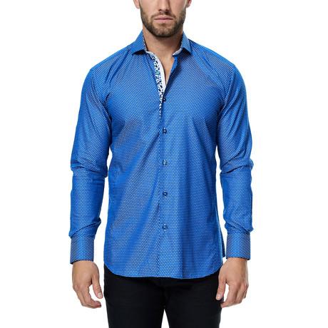 Wall Street Weave Dress Shirt // Blue (S)