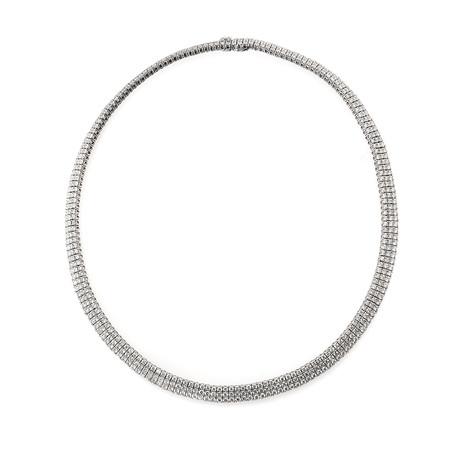 Roberto Coin 18k White Gold Diamond Necklace I