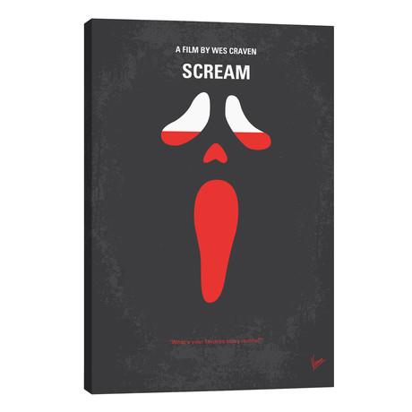 "Scream Minimal Movie Poster // Chungkong (26""W x 40""H x 1.5""D)"